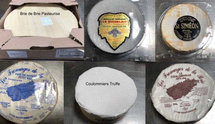 Recalled French cheeses. (© State of New South Wales through the NSW Food Authority www.foodauthority.nsw.gov.au)