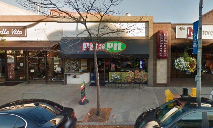 Pita Pit in Missoula, Montana, where a worker was filmed spitting into a customers food. (Screenshot via Google Maps)