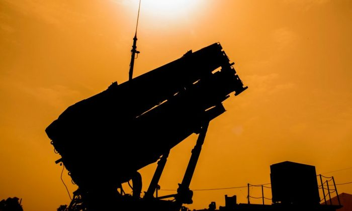 A US Patriot missile defence system is pictured during the Israeli-US military exercise on March 8, 2018. (Jack GuezaAFP/Getty Images)