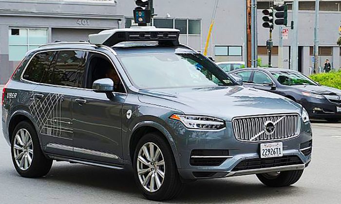 An Uber self-driving Volvo—a sight which will no longer be seen on the streets of Phoenix. (commons.wikimedia.org)