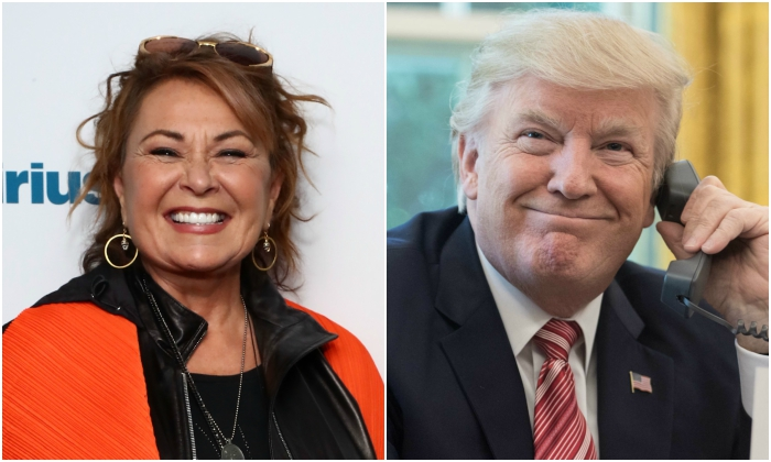 Actress and comedian Roseanne Barr (Astrid Stawiarz/Getty Images for SiriusXM) President Donald Trump (NICHOLAS KAMM/AFP/Getty Images)