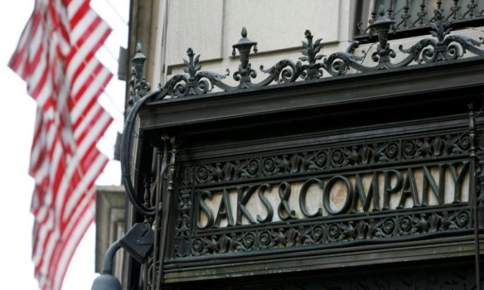 The outside of the Saks Fifth Avenue store is seen in New York on Oct. 8, 2009.  (REUTERS/Shannon Stapleton/File Photo)