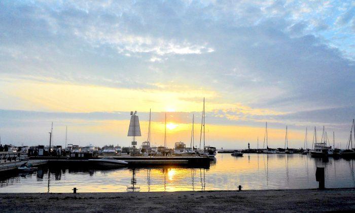 A Saugeen sunset at the Port Elgin marina. (Elissa Michele Zacher)
