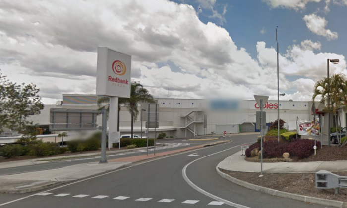 Police allegedly found an explosive device in a car at Redbank Plaza, Queensland on Monday, April 2, 2018. (Screenshot via Google Maps)