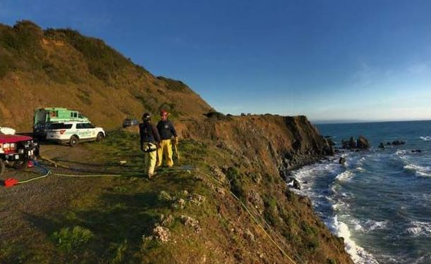 Site where the car of a California family crashed off the Pacific Coast Highway in Washingston state on March 26, 2018. (Mendocino County Sheriff's Office)