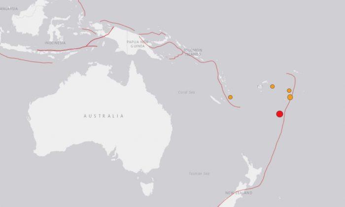 6.3 magnitude strikes southwest of Tonga on April 2, 2018. (USGS)
