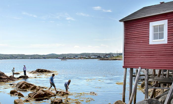 A fishing stage, a traditional building associated with the cod fishery in Newfoundland. (Courtesy of Fogo Island Inn)