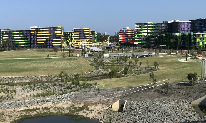 The 2018 Commonwealth Games Village, Parklands, Southport on the Gold Coast in Queensland, Australia. (Kgbo (Own work) [CC BY-SA 4.0 (https://creativecommons.org/licenses/by-sa/4.0)], via Wikimedia Commons)