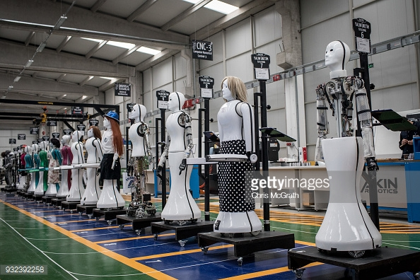 KONYA, TURKEY - MARCH 15: Early test robots are seen on display at the Akin Robotics factory on March 15, 2018 in Konya, Turkey.  (Photo by Chris McGrath/Getty Images)