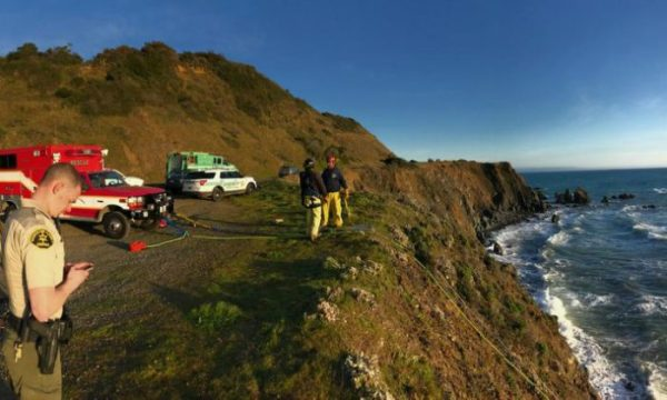 The clifftop in Mendocino County where the SUV was found