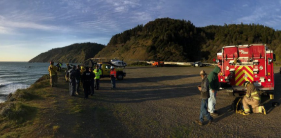 The clifftop in Mendocino County where the SUV was found on Monday, March 26, 2018. (Mendocino County Sheriff)