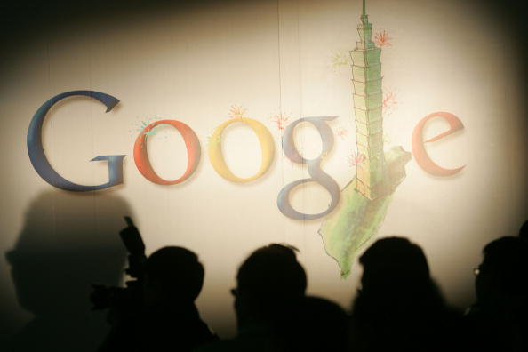 The Google Inc. logo is displayed at a news conference in Taipei, Taiwan, on May 5, 2008. (Maurice Tsai/Bloomberg via Getty Images)