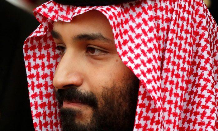 Saudi Arabia's Crown Prince Mohammed bin Salman leaves the Hotel Matignon in Paris, France, April 9, 2018. (Reuters/Charles Platiau)