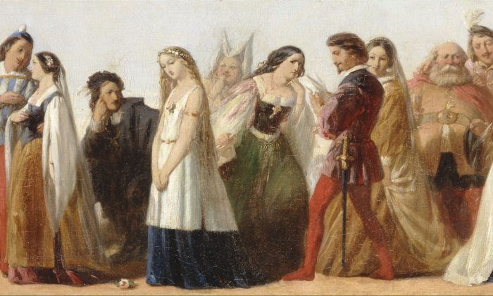 """""""Procession of Characters From Shakespeare's Plays,"""" circa 1840, unknown artist (manner of Thomas Stothard. (Public Domain)"""