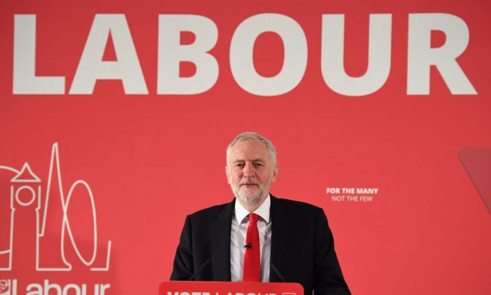 Labour leader Jeremy Corbyn launches the Labour Party's Local Election Campaign on Apr. 9, 2018 in London. Local council elections in England are due to be held on 3 May 2018.