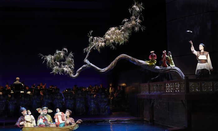 """A scene from the Canadian Opera Company's production of """"The Nightingale and Other Short Fables."""" (Michael Cooper)"""