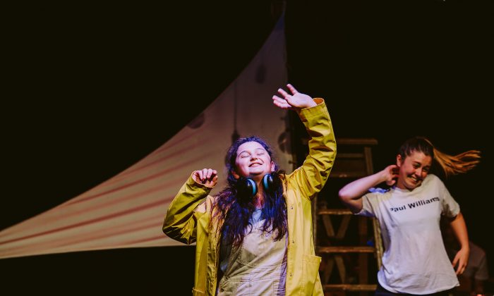 """Alexandra Brain (L) and Lizzie Grace in """"We Live by the Sea.""""  (Kate Pardey)"""
