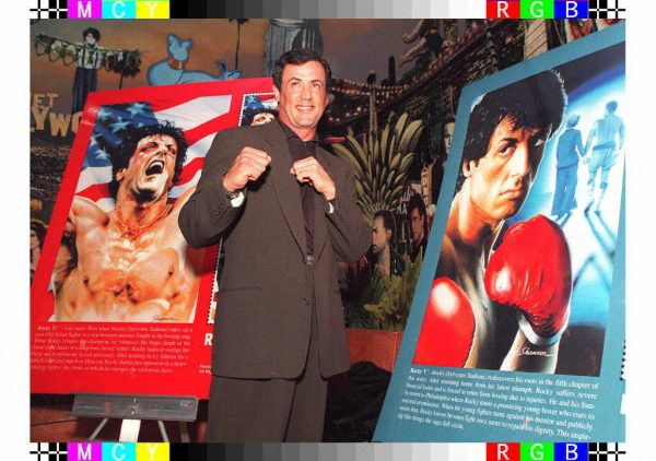 Actor Sylvester Stallone poses for photographers i