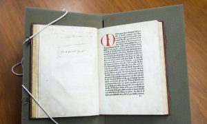 Oldest English Language Book in Canada at University of Toronto