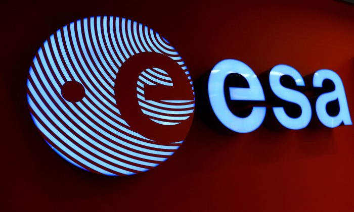 FILE PHOTO: A logo of the European Space Agency (ESA) is pictured at the headquarters in Darmstadt, Germany, Sep. 30, 2016.  (REUTERS/Ralph Orlowski)