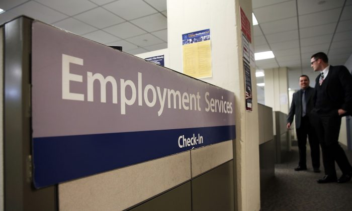 A New York Labor Department office in Manhattan, New York City, on March 6, 2015. (Spencer Platt/Getty Images)