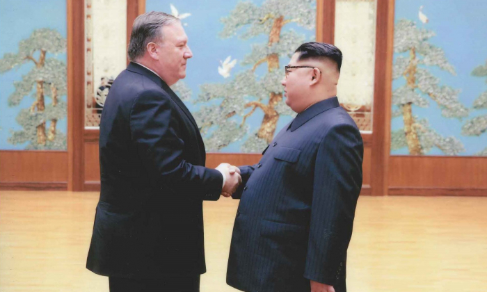 CIA Director Mike Pompeo meets North Korean Leader Kim Jong Un during the 2018 Easter weekend (March 30 - April 2) in Pyongyang, North Korea. (The White House)
