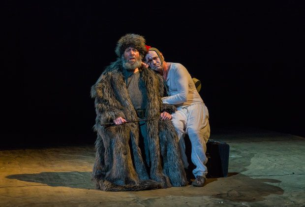 "Antony Sher (L) plays Lear, and Graham Turner play's his fool in Royal Shakespeare Company's production of ""King Lear,"" directed by Gregory Doran, at the BAM Harvey Theater.