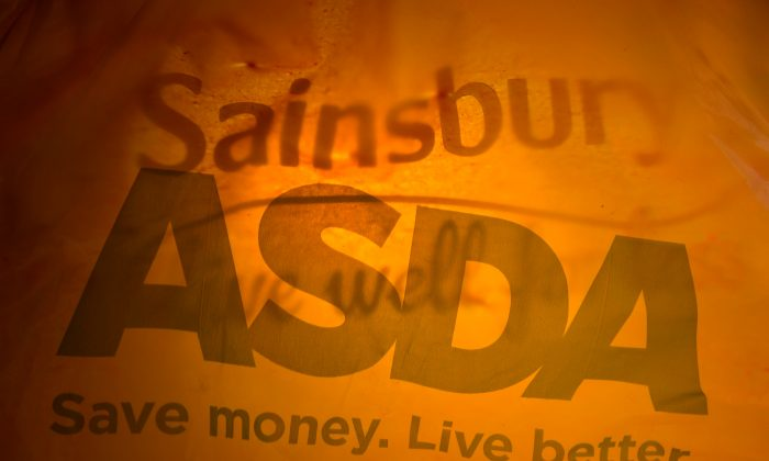 Till receipts from Asda and Sainsbury's can be seen in this photo illustration April 28, 2018. (Reuters/Toby Melville/Illustration)