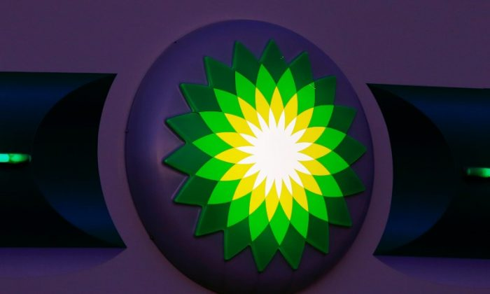 The logo of BP is seen at a petrol station in Kloten, Switzerland October 3, 2017. (Reuters/Arnd Wiegmann)
