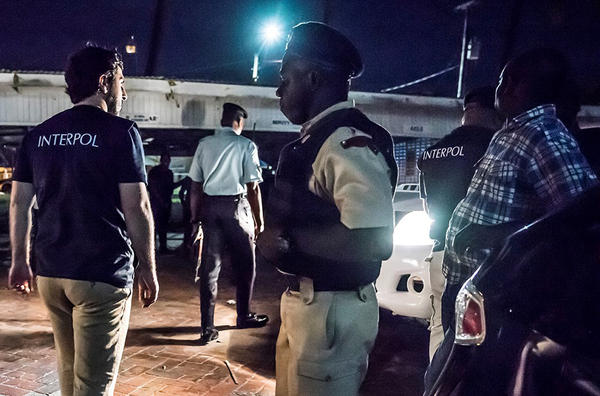 Night raids were held in bars and night clubs. (Interpol)