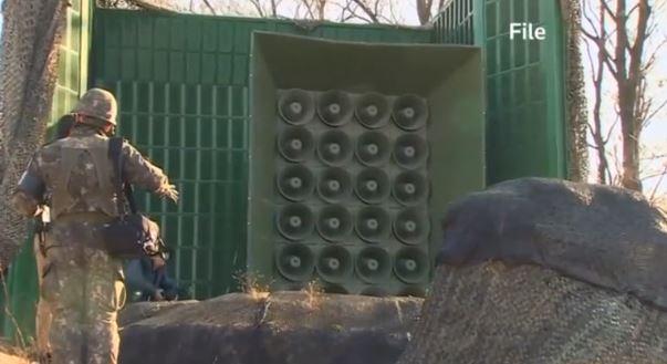 South Korea turns off loudspeakers at DMZ in April, 2018. (Reuters TV)