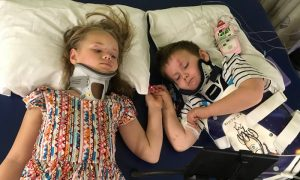 This Heartbreaking Photo of Siblings After an Accident Is Moving Thousands—Here's the Sad Reason Why