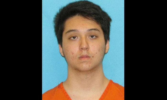Matin Azizi-Yarand, 17, appears in a booking photo provided by the Collin County Sheriff's Office, May 2, 2018.  (Collin County Sheriff's Office/Handout via Reuters)