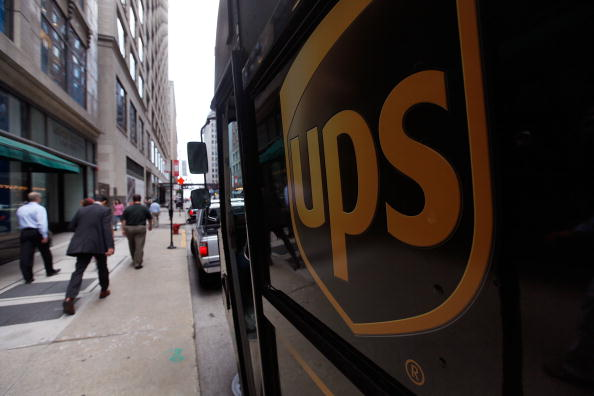 A United Parcel Service Inc. (UPS) truck makes deliveries July 23, 2009 in Chicago, Illinois.   (Photo by Scott Olson/Getty Images)