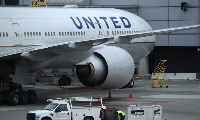 United Airlines planes sit on the tarmac at San Francisco International Airport in San Francisco, Calif., on April 18, 2018. (Justin Sullivan/Getty Images)