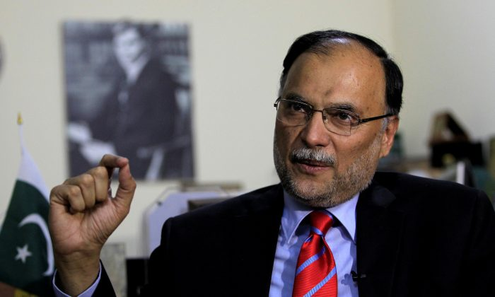 Ahsan Iqbal Pakistan's Minister of Planning and Development speaks with a Reuters correspondent during an interview in Islamabad, Pakistan June 12, 2017. (Reuters/Caren Firouz/File Photo)