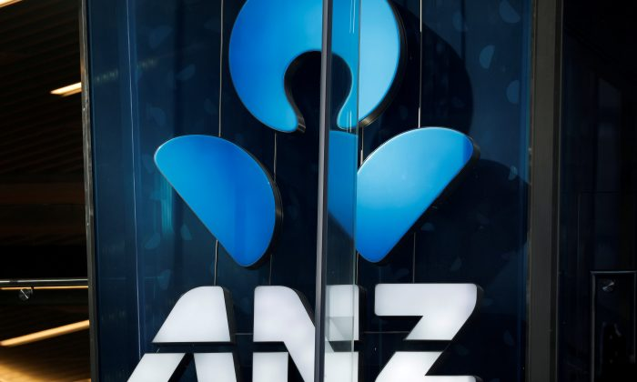An ANZ bank logo is pictured in Sydney, Australia April 23, 2018. (Reuters/Edgar Su/File Photo)