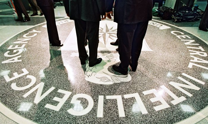 The seal of the Central Intelligence Agency at its headquarters in Langley, Virginia on March 20, 2001. (David Burnett/Newsmakers)