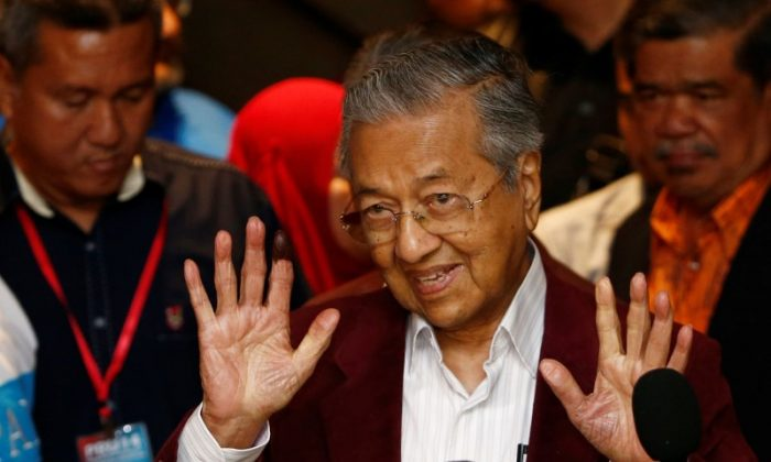Mahathir Mohamad, former Malaysian prime minister and opposition candidate for Pakatan Harapan (Alliance of Hope) attends a news conference after general election, in Petaling Jaya, Malaysia, May 9, 2018. (Reuters/Lai Seng Sin)