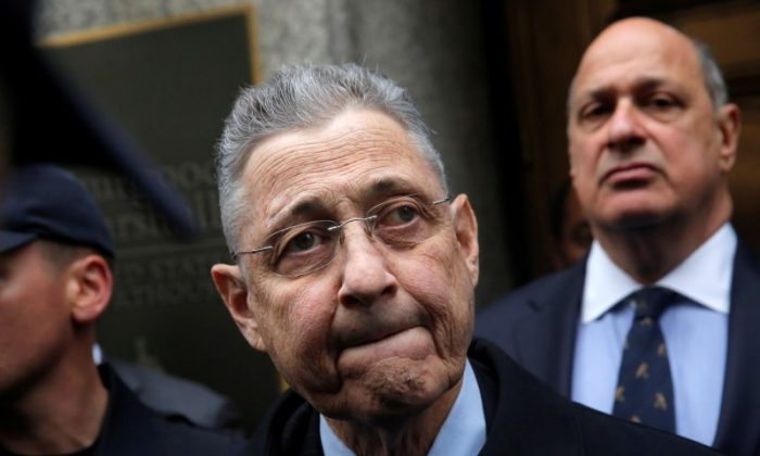 Former New York State Assembly Speaker Sheldon Silver exits the Manhattan U.S. District Courthouse in New York City on May 3, 2016.  (REUTERS/Andrew Kelly/File Photo)