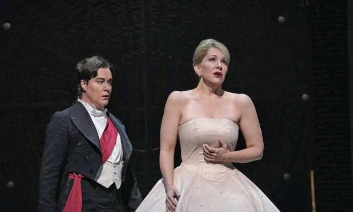 """Alice Coote (L) as Prince Charming and Joyce DiDonato in the title role of Massenet's """"Cendrillon."""" (Ken Howard / The Metropolitan Opera)"""
