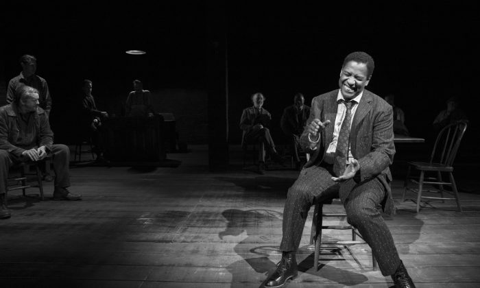 "Denzel Washington as Hickey, a traveling salesman, in Eugene O'Neill's ""The Iceman Cometh."" (Julieta Cervantes)"