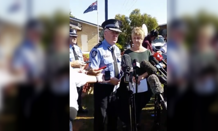 WA Police Commissioner Chris Dawson talks to reporters on May 12, 2018. (Western Australia Police Force /Facebook)