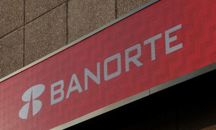FILE PHOTO: A sign of Banorte bank is pictured at its headquarters in Monterrey, Mexico, Dec. 5, 2017. (REUTERS/Daniel Becerril)