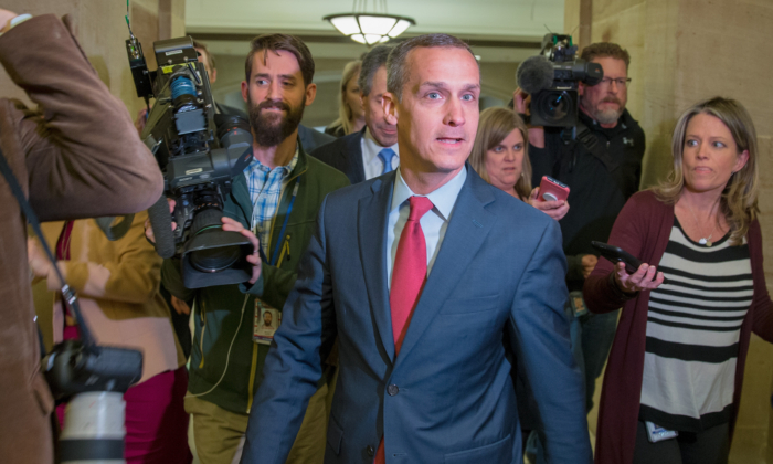 Former Trump campaign manager Corey Lewandowski at the U.S. Capitol in Washington, D.C., on March 8, 2018. (Tasos Katopodis/Getty Images)