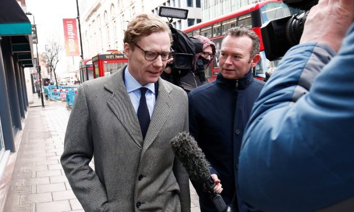 Alexander Nix, CEO of Cambridge Analytica arrives at the offices of Cambridge Analytica in central London, Britain, March 20, 2018. File photo. (Reuters/Henry Nicholls)