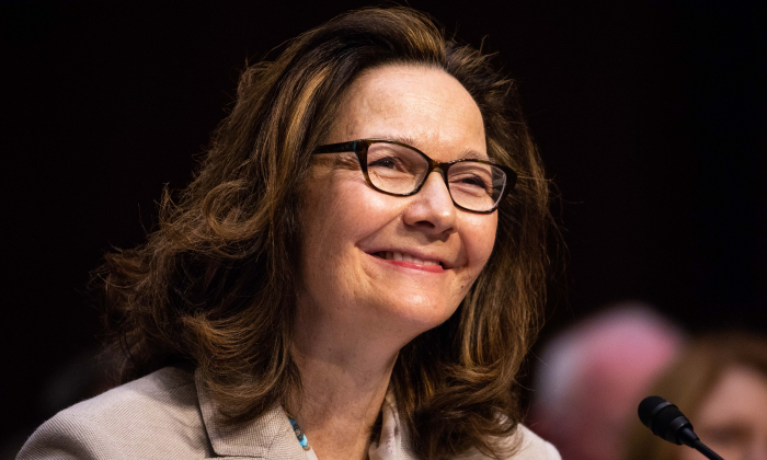 CIA Director nominee Gina Haspel at her confirmation hearing before the Senate (Select) Committee on Intelligence in Washington on May 9, 2018. If confirmed, Haspel will succeed Mike Pompeo to be the next CIA director. (Samira Bouaou/The Epoch Times)