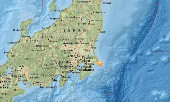 5.3 earthquake rattles eastern Japan on April 17. (USGS)