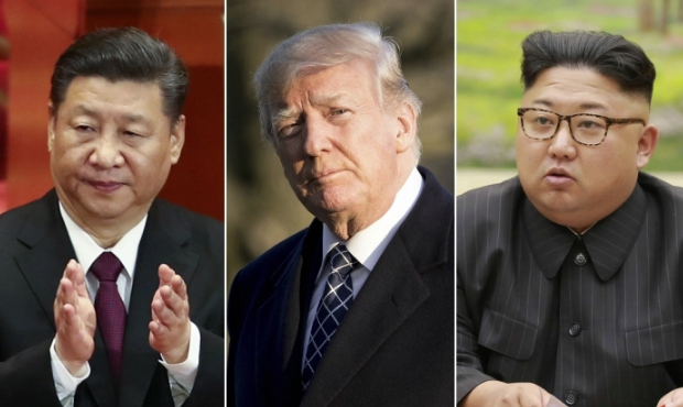 Chinese leader Xi Jinping. (Lintao Zhang/Getty Images) U.S. President Donald Trump. (Samira Bouaou/Epoch Times) North Korean leader Kim Jong Un. (STR/AFP/Getty Images)