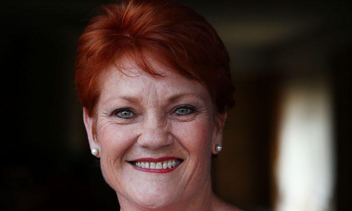 One Nation Senator Pauline Hanson on Sept. 21, 2017, on the Sunshine Coast, Australia. (Lisa Maree Williams/Getty Images)